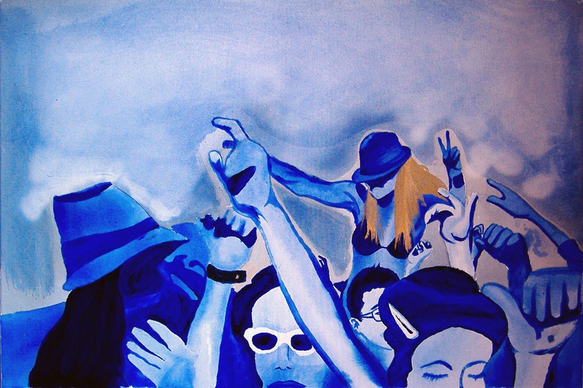 festival de música acrílico azul ultramar