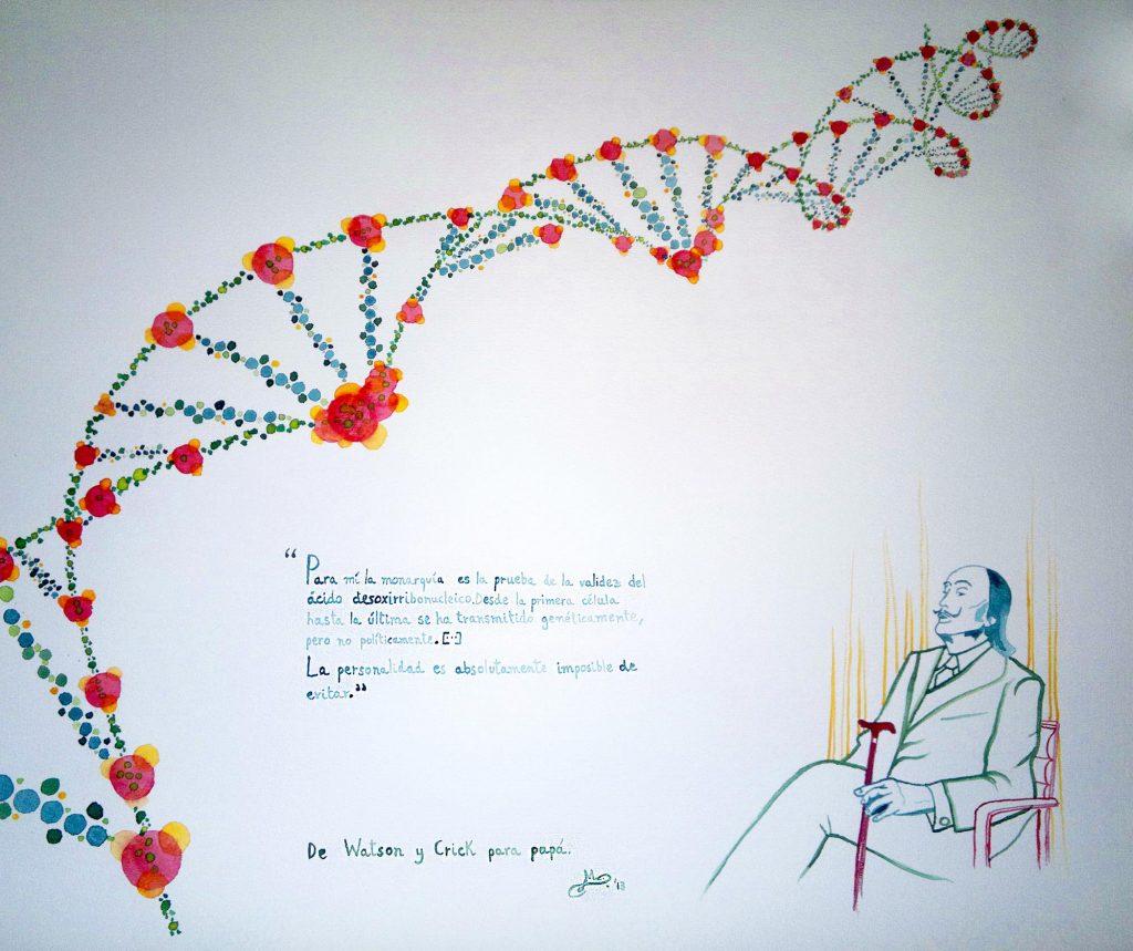 Acuarela ADN y Dalí