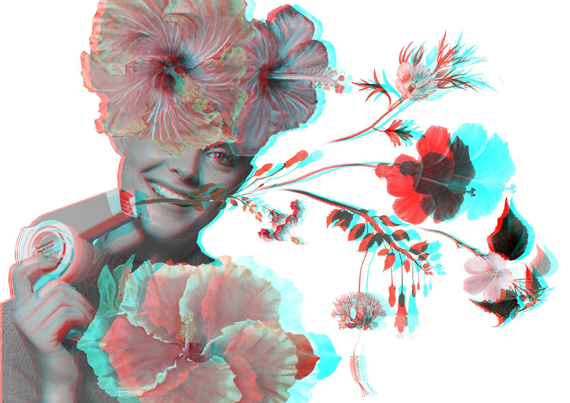 anaglifo-3d-secador-pelo-flores