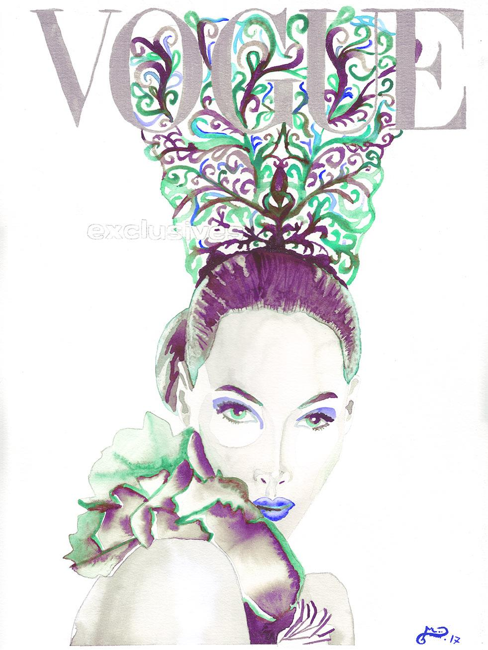 scan-vogue-cristy-turlington-peineta-rosa-acuarela