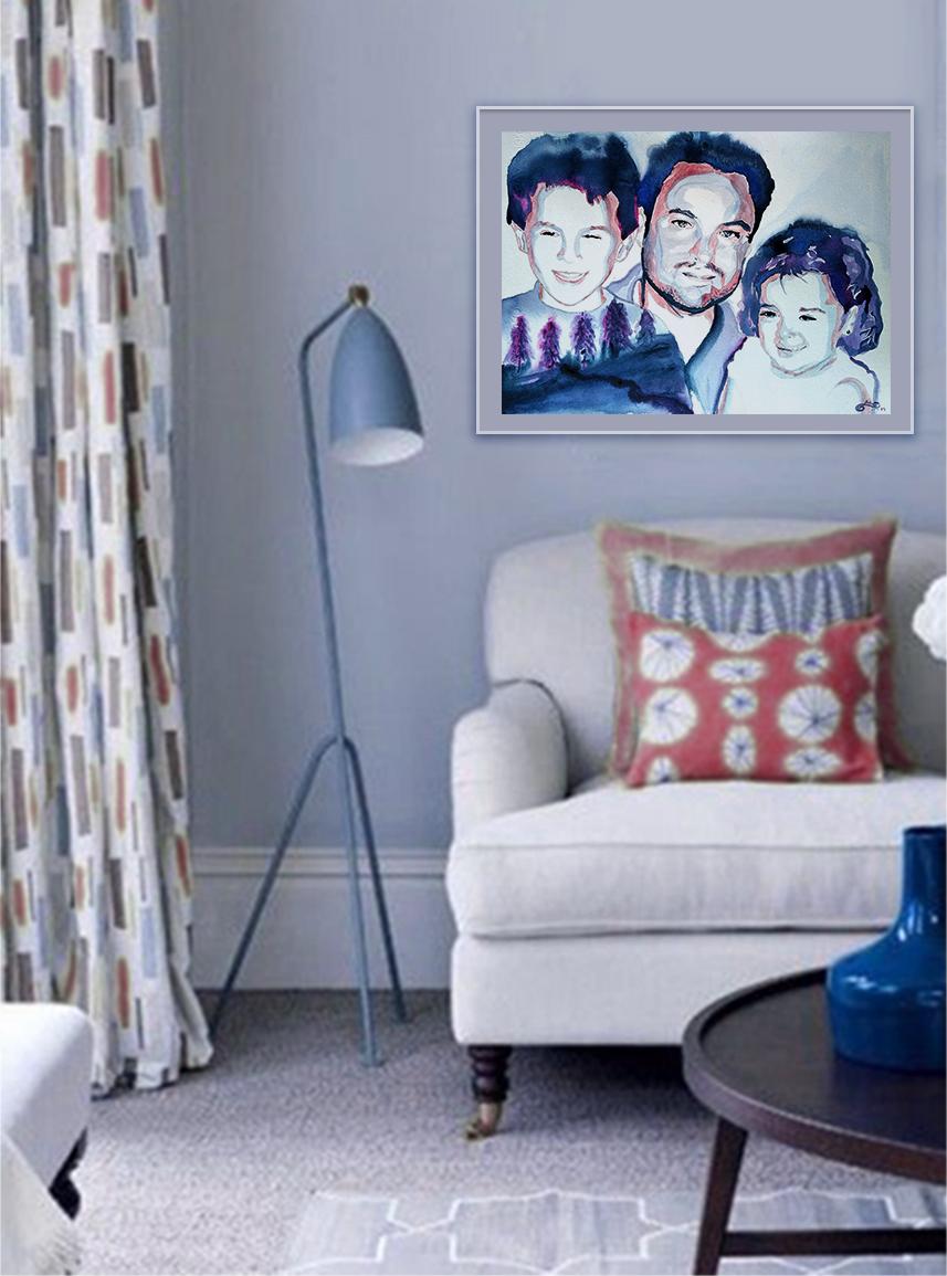 retrato-de-mi-familia-en-un-interior-a-acuarela